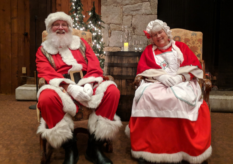 Mr. and Mrs. Claus join the celebration